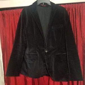 Old Navy Black velvet jacket size M womens